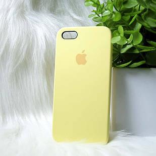Чехол iPhone 5 5s SE желтый