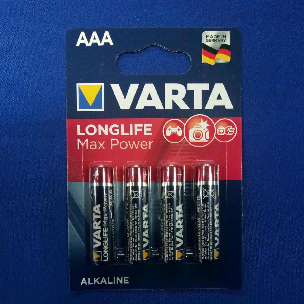 Батарейка мини-пальчиковая Varta LongLife Max Power LR03 ( 4шт. )