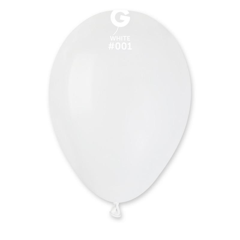 Повітряний кулі Gemar #001 A80 White d-21 см 100 шт/уп білі