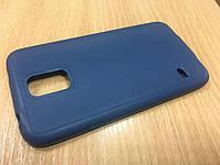 Силиконовый чехол-бампер для Samsung S5 (G900) темно синий