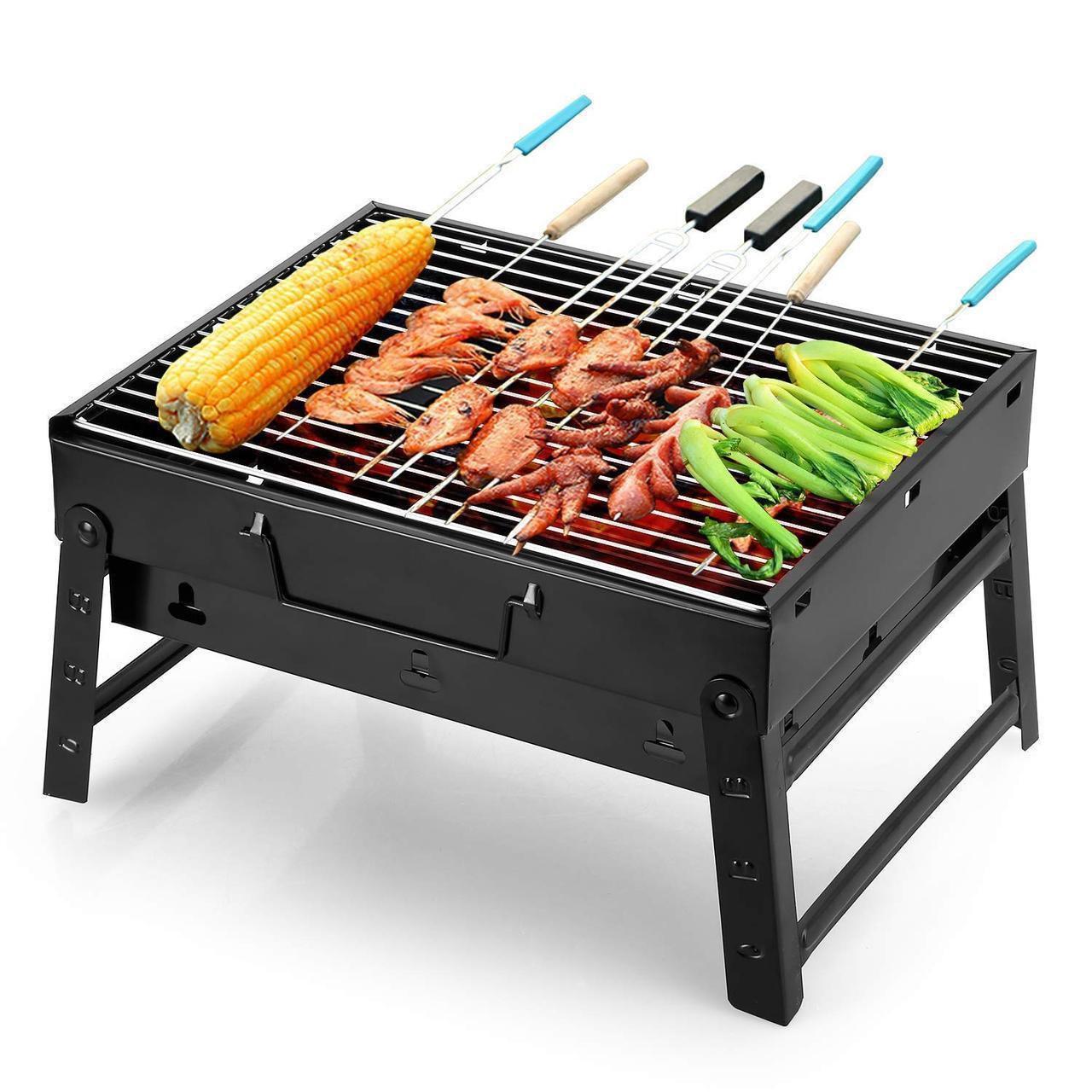 Складной переносной барбекю гриль BBQ Grill Portable A183