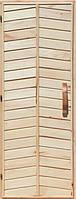 Деревянная дверь глухая для сауны Украина 80х190 липа высший сорт