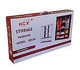 Шкаф тканевый складной трёхсекционный  Storage Wardrobe 88130 (коричневый), фото 3