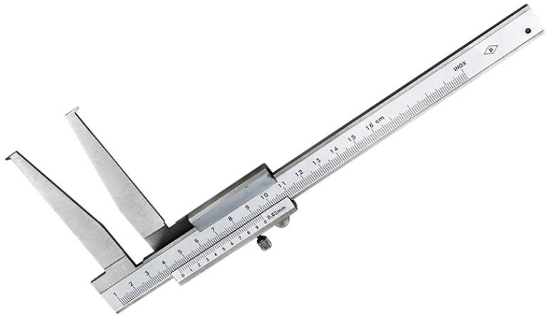 Штангенциркуль ШЦО 10 - 160 - 0,02 / 75 мм губки сверху