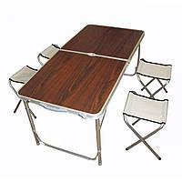 Туристический раскладной стол для пикника с четырьмя стульями, фото 1