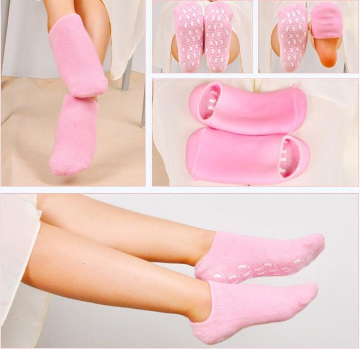 Увлажняющие гелевые SPA носки для педикюра