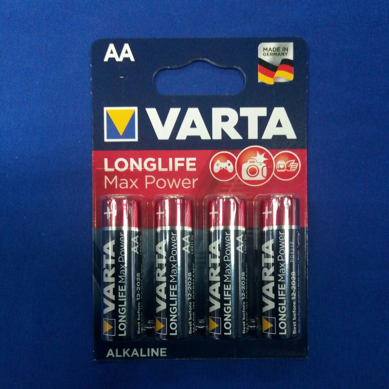 Батарейка пальчиковая Varta LongLife Max Power LR6 ( 4шт. )