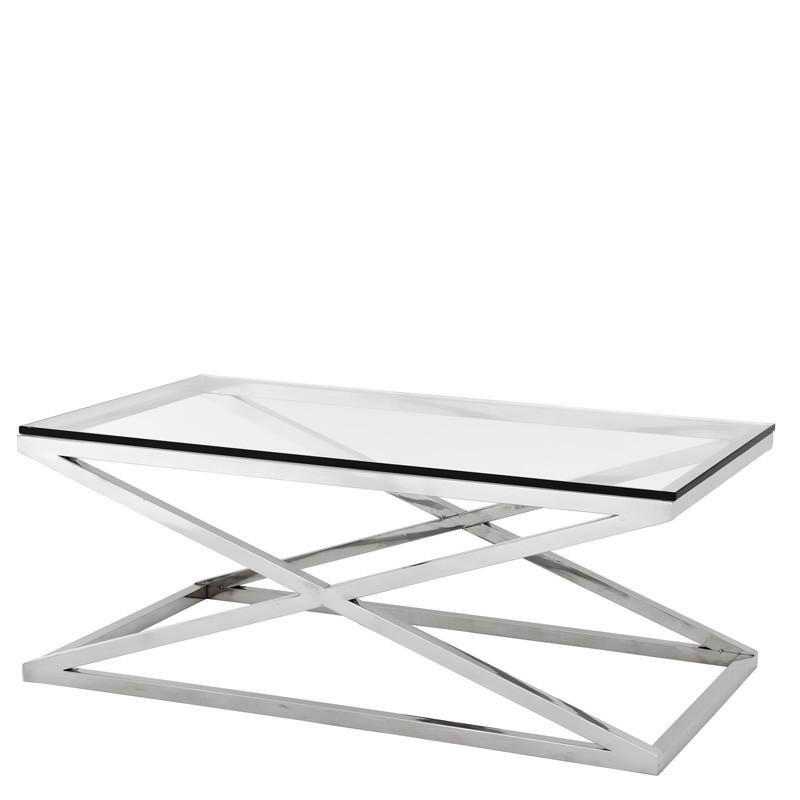Журнальный стол X-Legs 120*60 из нержавеющей стали
