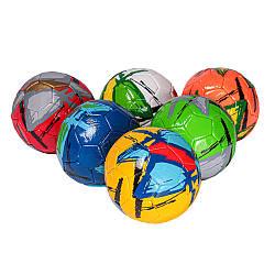 М'яч (мяч) футбольний BT-FB-0283 (100шт) №2, PVC, 100 грам, 2-х слойний, 6 видів, у пак.