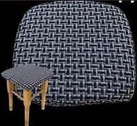 Чехлы на табуретки комплект 4 шт на резинке (сидушка на табурет, стул)