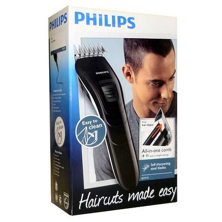 Машинки для стрижки волос Philips QC5115/15 (Лезвия из нержавеющей стали, 11 установок длины, Питание от сети), фото 2