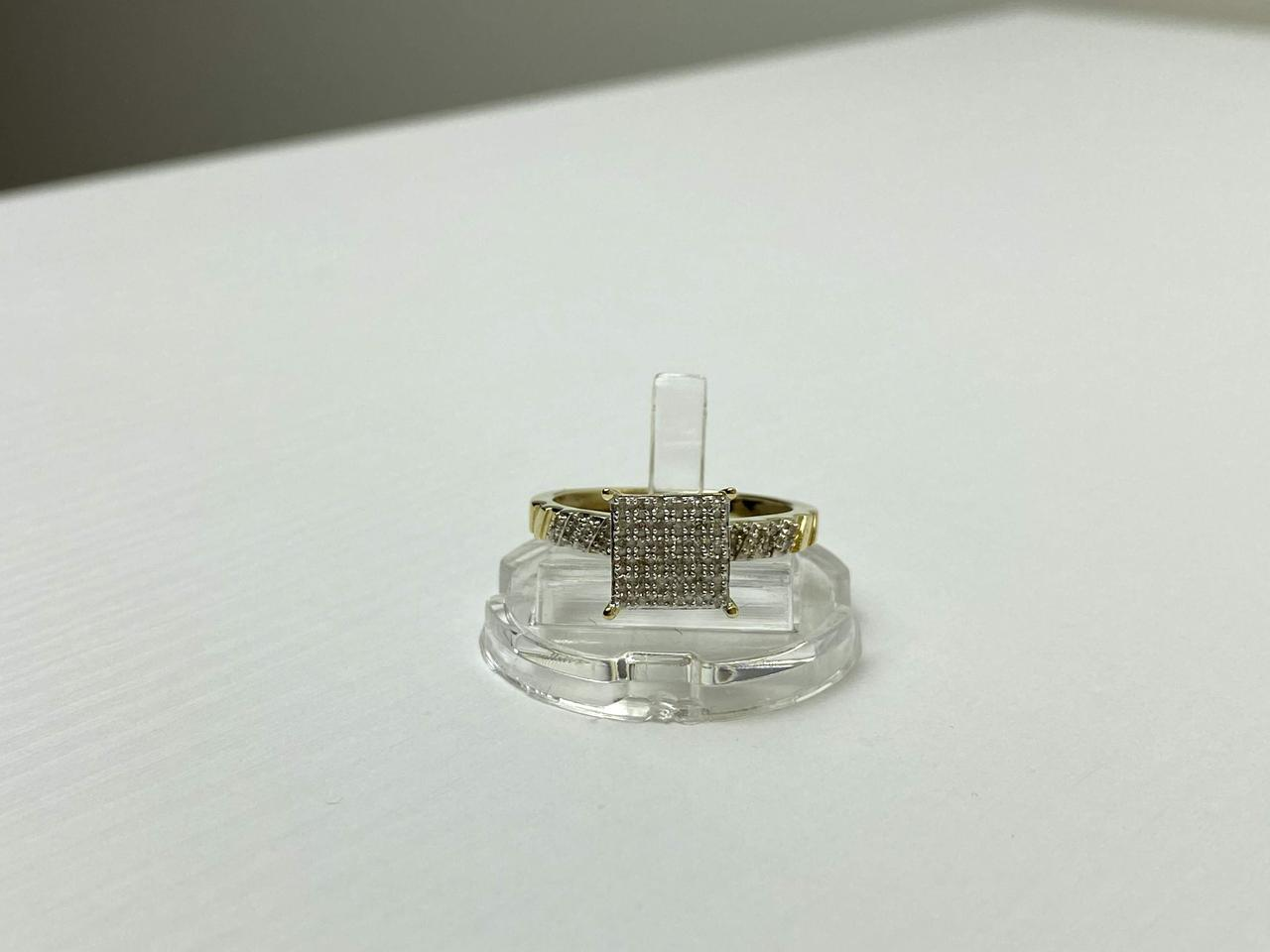 Золотое Кольцо 10К (417 проба) с Бриллиантами