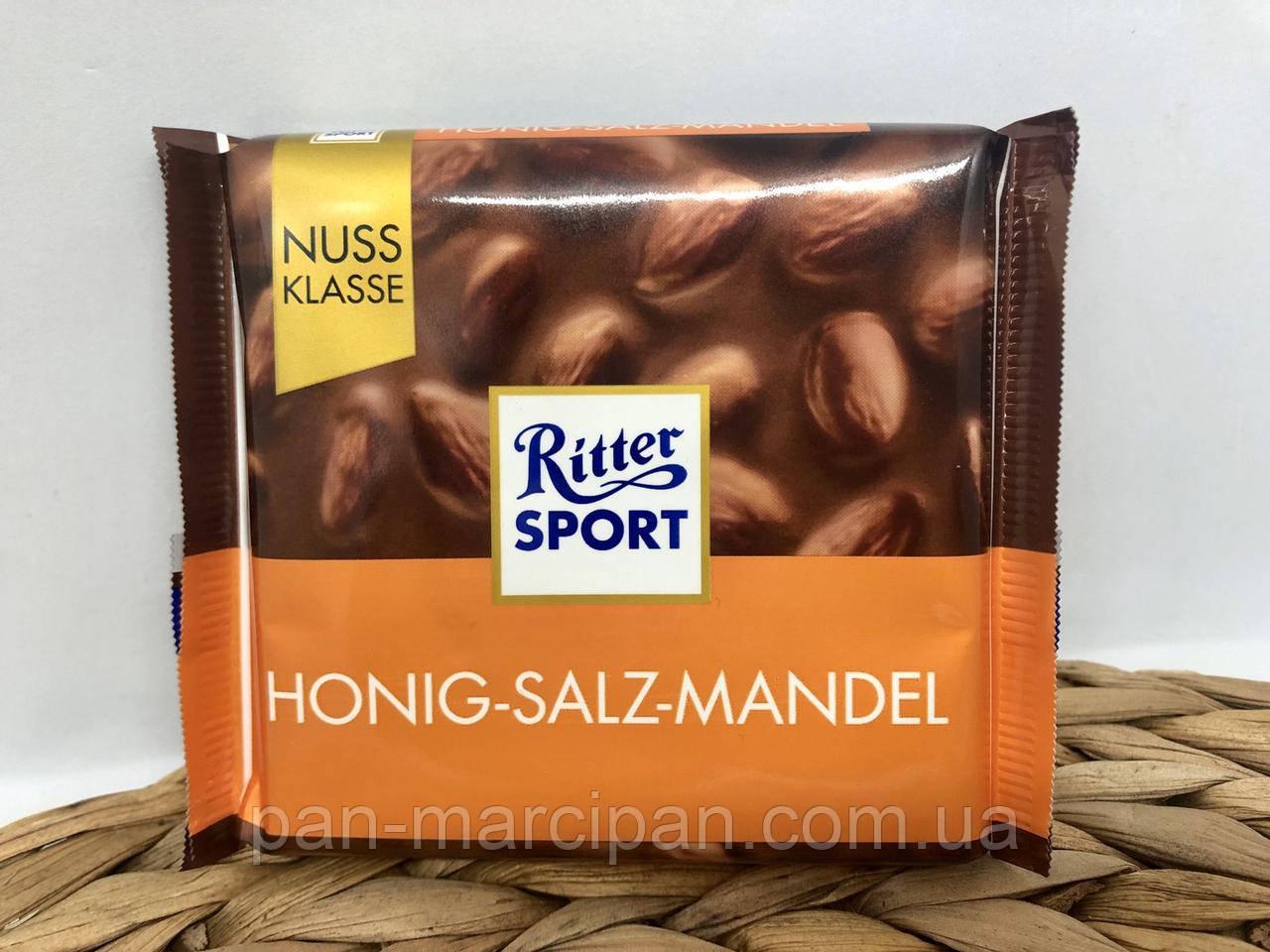 Шоколад Ritter Sport Honig Salz Mandel 100 г Німеччина