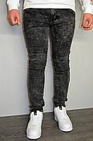 Джинси чоловічі темно-сірі, завужені, фото 1