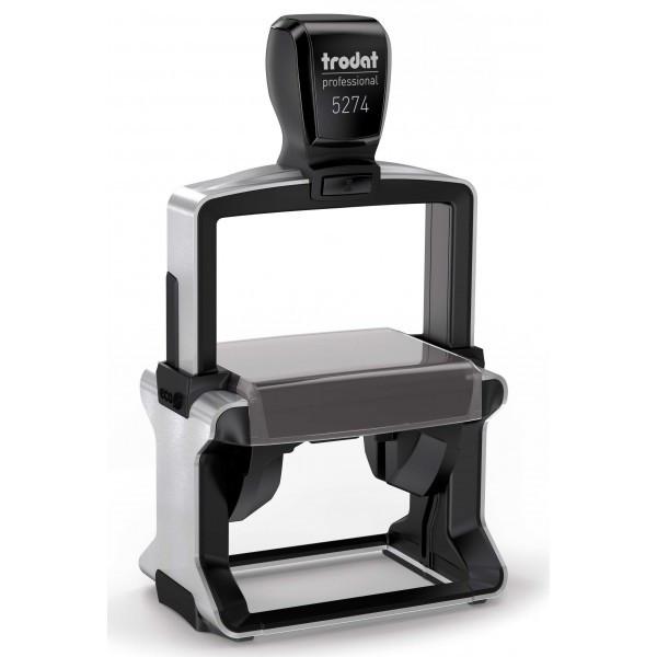 Оснастка для штампа металлическая прямоугольная Trodat Professional 5274 (5207) 60х40 мм чёрная