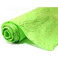 Бумага для упаковки подарков President 70 см 5 м жатая салатовая