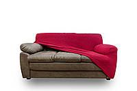 Натяжной Универсальный Чехол на Трёхместный диван производства Испания цвет  Красный