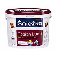 Краска Sniezka DESIGN LUX  глубоко матовая латексная для интерьеров 3 л(4.2кг).