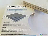 Звукоизоляционная каркасная облицовка с применением панели Саундлайн dB, толщина конструкции 140мм