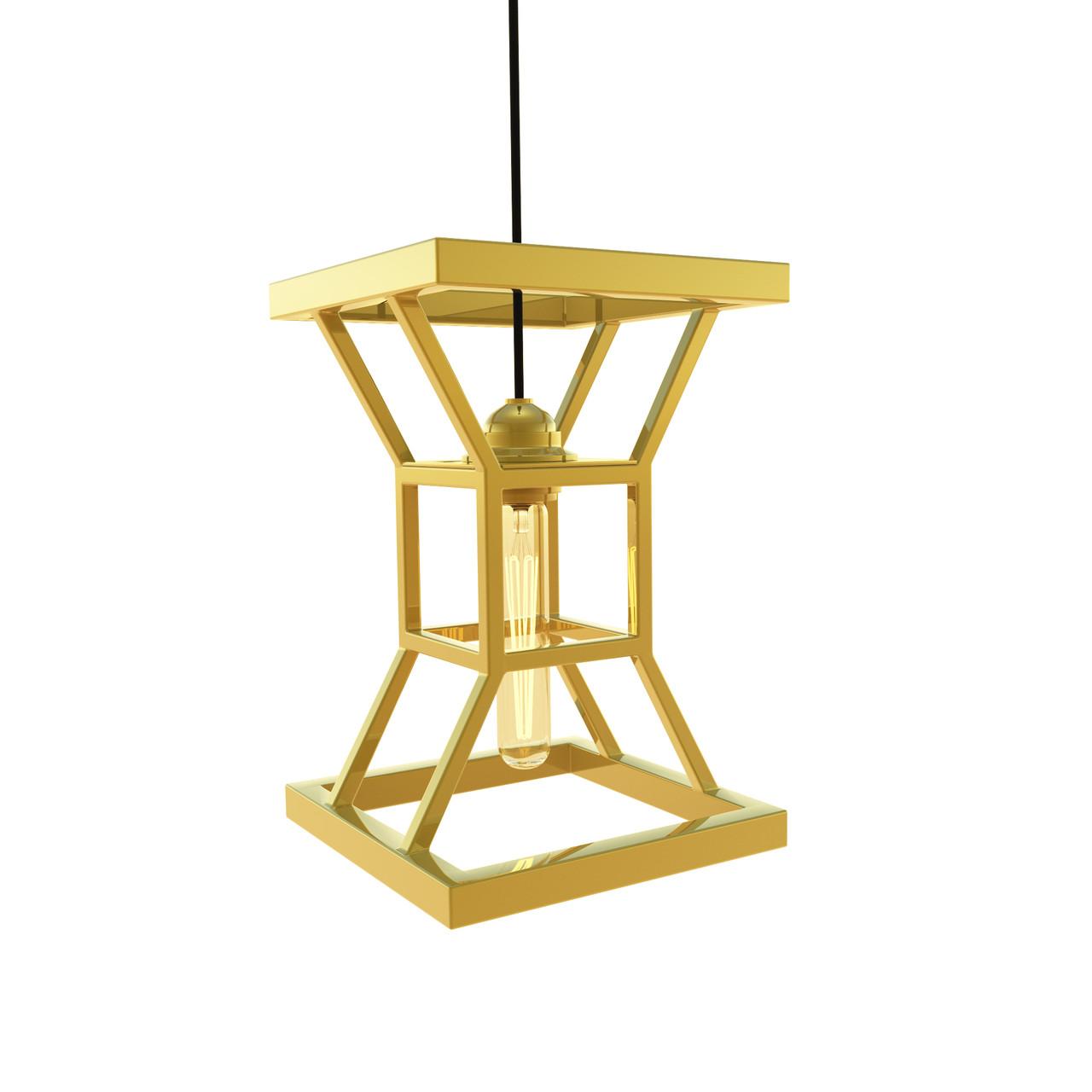 Подвесной светильник «Hourglass» Gold из нержавеющей стали под золото