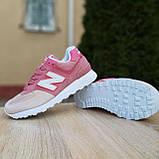 Жіночі кросівки в стилі New Balance 574 пудра, фото 3