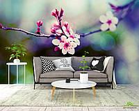 Фотообои Веточка с розовыми цветами