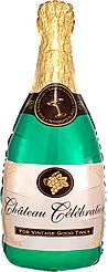 Фол шар МИНИ-ФИГУРА Бутылка шампанского Зеленая (Анаграм)