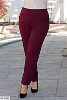 Модные женские деловые брюки на резинке размеры 48-62 арт 776