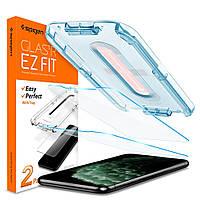 Захисне скло Spigen для iPhone 11 Pro Max / XS Max EZ FIT GLAS.tR (2 шт), Clear (065GL25359), фото 1