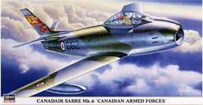 "Canadair Sabre Mk 6 ""Canadian Armed Forces"". Сборная модель самолета в масштабе 1/48. HASEGAWA 09680"