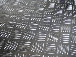 Лист алюминиевый рифленый (квинтет) марки АД0 1х1000х2000мм