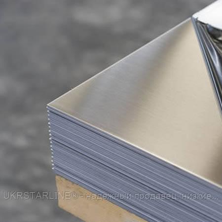 Лист, нержавеющая сталь, 201 0,4 мм