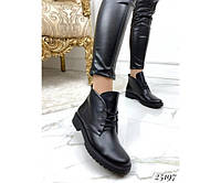 Короткие Женские ботинки   на шнурках