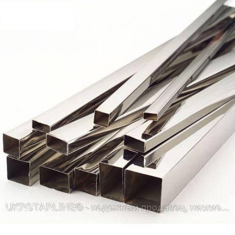 Труба профильная из нержавеющей стали, 20х10