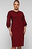 Платье большого размера VP123 бардо