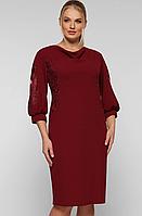 Платье большого размера VP123 бардо, фото 1