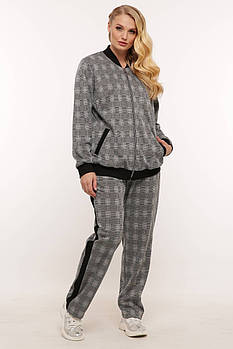 / Размер 56,58,60 / Женский комфортный костюм в спортивном стиле Шантэ серый