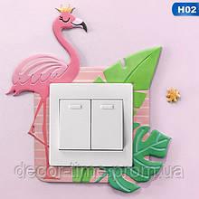 Наклейка в детскую  на стену  (включатель, выключатель, розетку)  Фламинго H02
