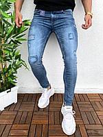 Мужские рваные джинсы весенние-осенние Man. Живое фото. Турция люкс качество