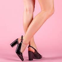 Туфли женские на высоком каблуке с открытой пяткой  размеры 36-40, фото 3