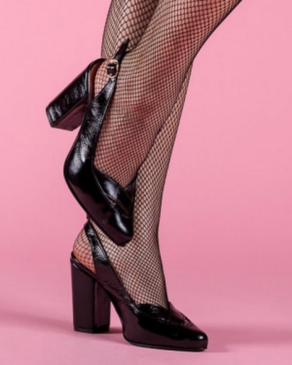 Туфли женские на высоком каблуке с открытой пяткой  размеры 36-40