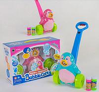 """Детская каталка с мыльными пузырями """"Пингвин"""", с эффектами, FH 776"""