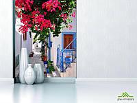 Фотообои Ступеньки с цветами