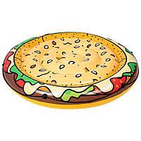 Пляжный надувной плотник матрас для плавания пицца Гамбургер 43250 Bestway