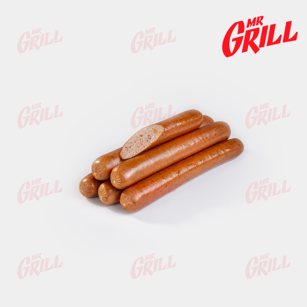 """Колбаски для хот дога полукопченые """"Тюрингские"""" первого сорта с зеленью"""