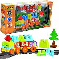 Детская железная дорога Wader «Baby Blocks» Мои первые кубики 1,5 м - 36 эл. (41460)
