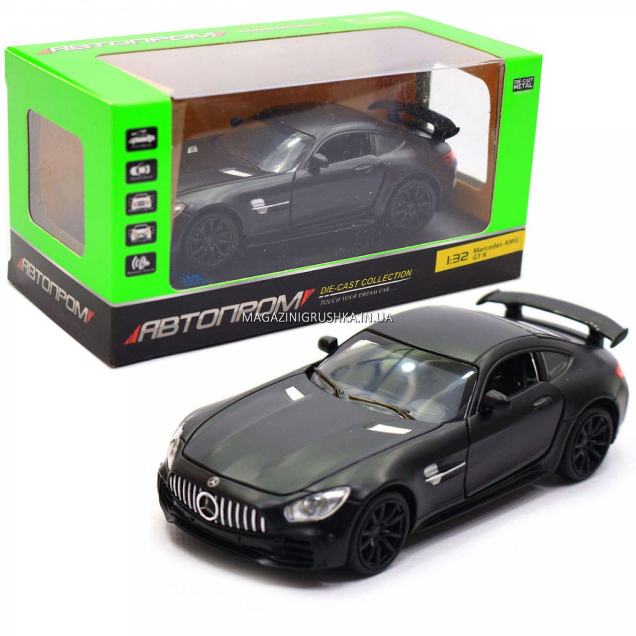 Машинка ігрова Автопром Мерседес (Mercedes-AMG GT-R), 14 см, чорний 7860