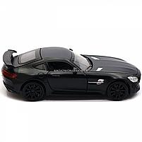 Машинка ігрова Автопром Мерседес (Mercedes-AMG GT-R), 14 см, чорний 7860, фото 3