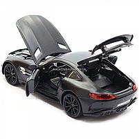 Машинка ігрова Автопром Мерседес (Mercedes-AMG GT-R), 14 см, чорний 7860, фото 5