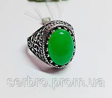 Серебряный перстень с камнем хризопраз Мелодия